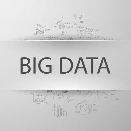 "digital data: Information concept  inscription ""BIG DATA"" with formulas on the background"