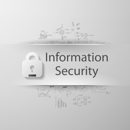 """inscription """"Information security"""" with formulas on the background Vector"""