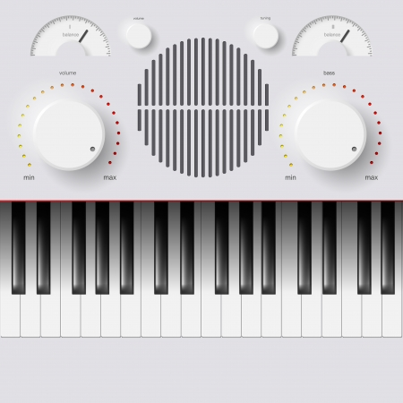 synthesizer: Vector Synthesizer Keys Knobs Buttons and keyboard