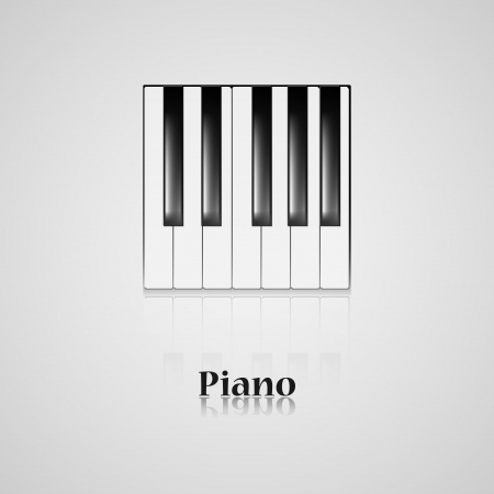 amplify: Piano keys on black background