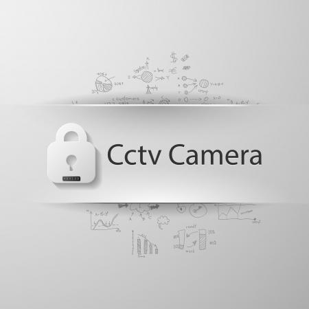 surveillance symbol: Cctv camera Illustration