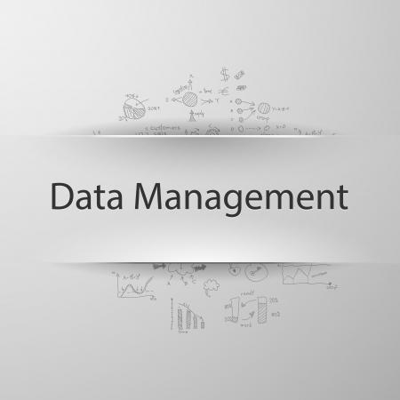 Data Management Иллюстрация