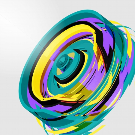 Abstract wheel concept Vector