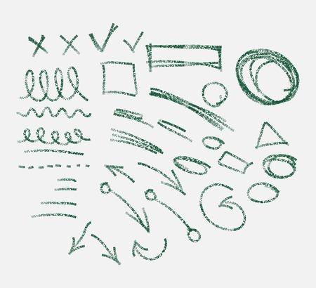 deletion: Hand drawn arrows set Illustration