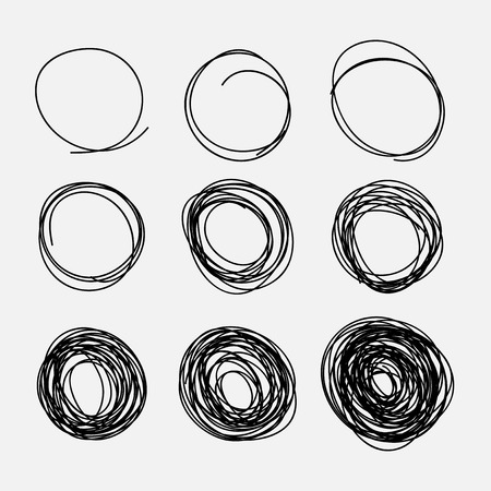 Hand-drawn circles Ilustrace