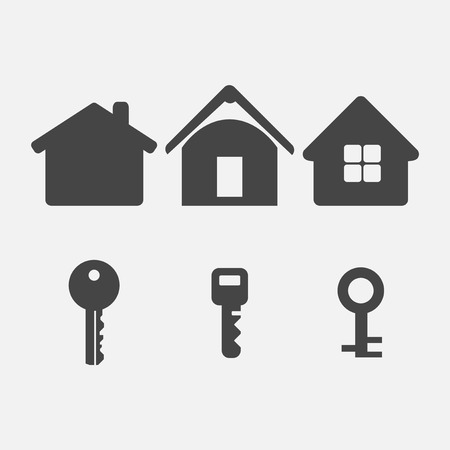 steel icon: house and key