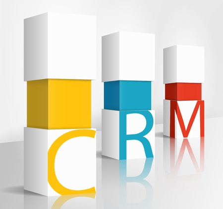3d illustration concept: crm