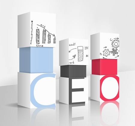 3d illustration concept: CEO Vector