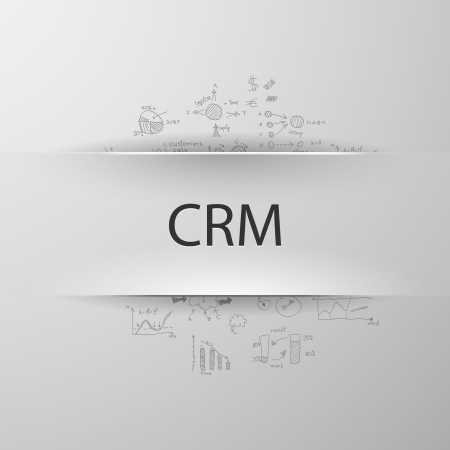 CRM formula concept: customer relationship management Vector