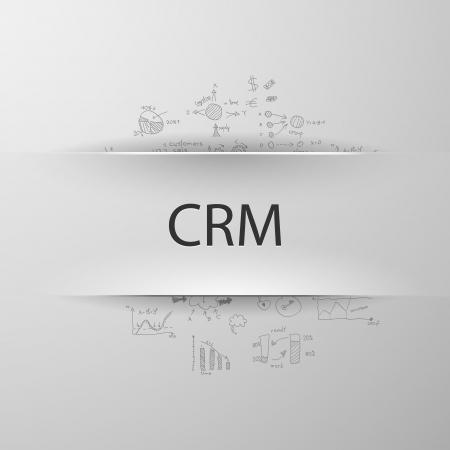 relationship management: CRM formula concept: customer relationship management