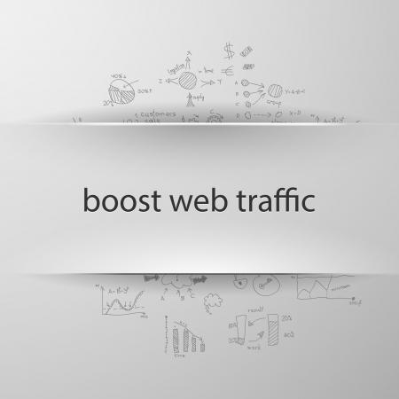 coup de pouce: formule notion: le trafic Web de suralimentation