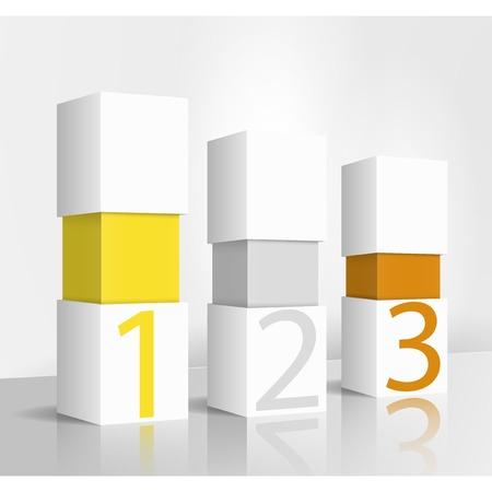 3d illustration concept: 123