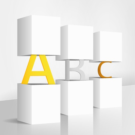 3d illustration concept: ABC Illustration
