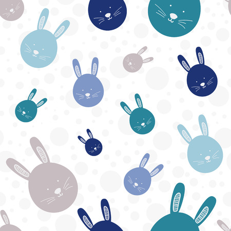 lapin blanc: Funny bunny seamless