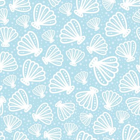 Shell seamless pattern Illustration