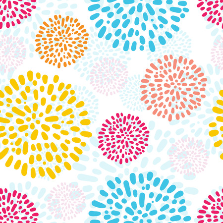 doodled: seamless pattern with doodled flowers, good for children