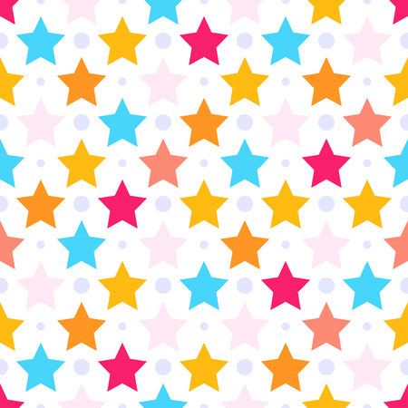 Seamless pattern with colorful stars.Good for children