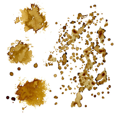 splash: Coffee stains.   Good as design elements for cafebarrestaurant menu, flyers, advertising, cards.