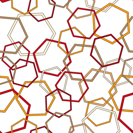 Seamless geometric pattern with polygonal figures. Vector eps10. Illustration
