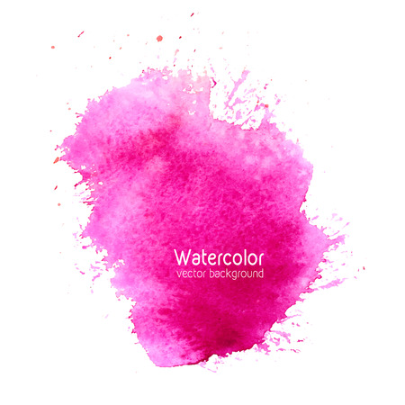 Vector abstract watercolor splash background with paper texture. Hand drawn watercolor backdrop, stain watercolors colors on wet paper. Good for invitations, scrapbooking, banners, tags, labels, etc