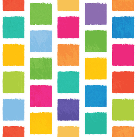jagged: Vector seamless pattern with colorful squares with jagged edges. Abstract background, good for childrens stuff. Illustration