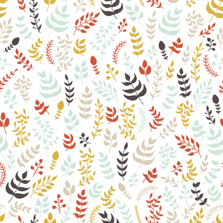 Vector seamless hand drawn floral pattern.