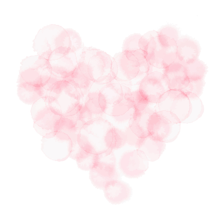 Pink heart symbol of love and romance illustration.
