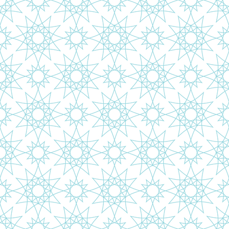 Vector seamless pattern with geometrical figures. Graceful abstract background.