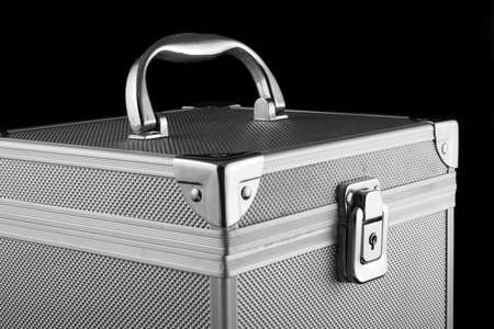 a safe locked metal box for storing your valuables Stock Photo - 719567
