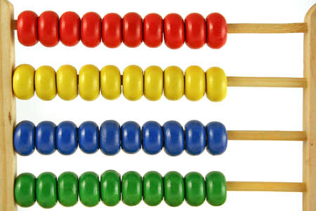 childrens abacus - calculator with all beads at one side photo
