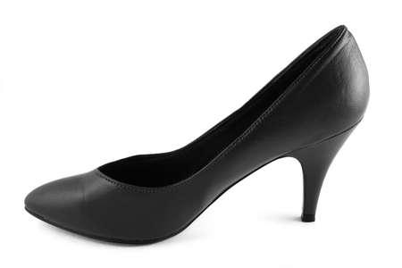 classic formal black high heel womans shoe - feminine symbol