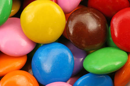 bright colored candy close up Stock Photo