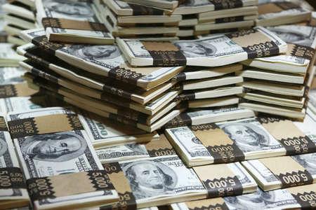 veel geld - een miljoen dollar in cash (echt geld)