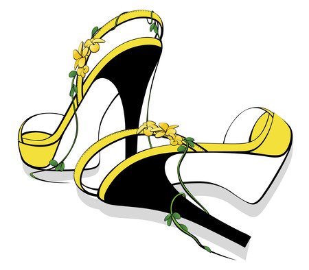 Glamour sandals Vector