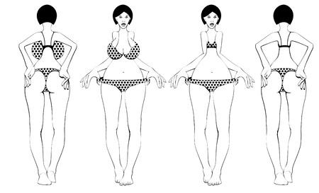 womenīŋŊs: A standart of women s body Illustration
