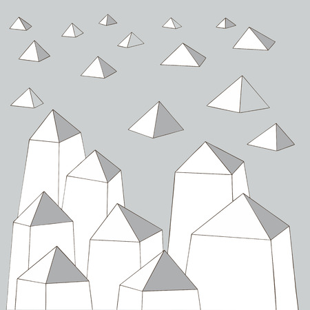 meshy: Abstract urban monochrome background, vector illustration. For coloring book Stock Photo