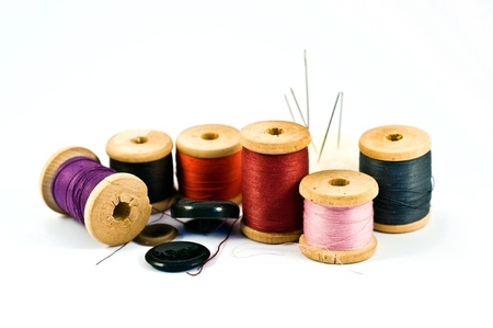 sewing set. yarn and needles photo