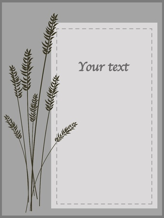 monotone: monotone nature card whit space for text