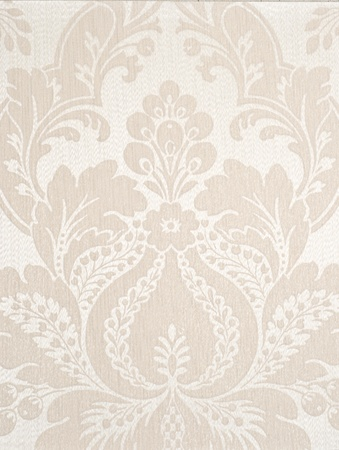 ivory textile wallpaper. floral pattern background. Stock Photo