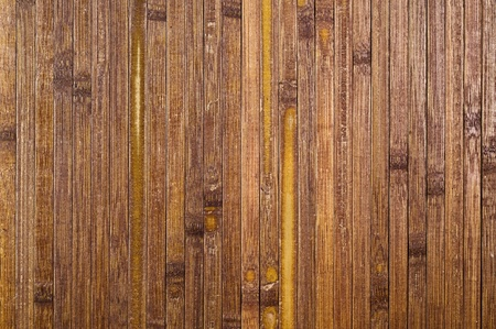 close up of dark bamboo mat. natural background. photo
