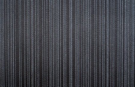 black textile wallpaper. striped pattern background. Stock Photo