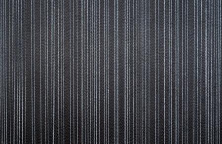 black textile wallpaper. striped pattern background. Stock Photo