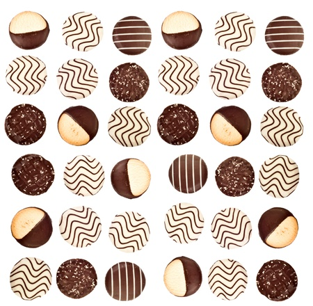 background of different cookies.