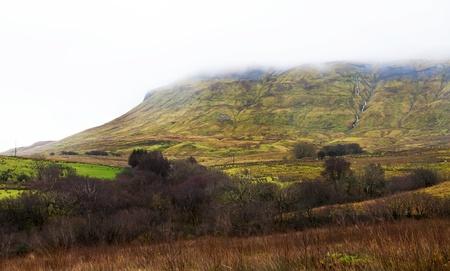 Gleniff horseshoe road in Ireland.  Mountain landscape.