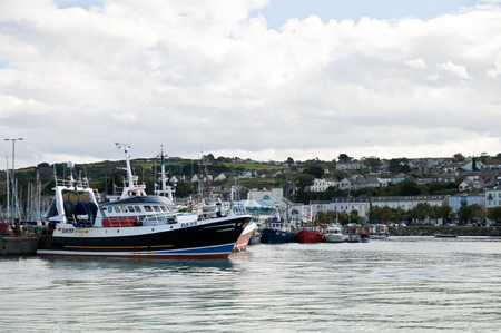 The view of the Howth harbour near Dublin Ireland. Editorial