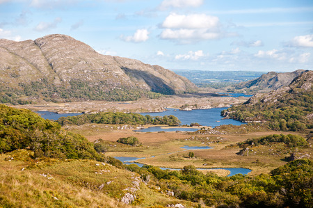 Ladies view is a scenic point along the N71 portion of the Ring of Kerry in Killarney National Park Ireland