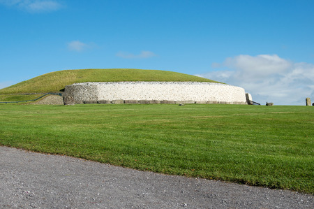 neolithic: Newgrange Irish passage tomb neolithic site in Ireland. Stock Photo