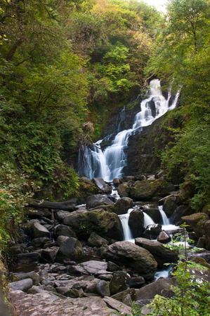 county kerry: Torc waterfall in County Kerry Ireland. Stock Photo