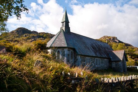 Old church at the Ring of Kerry Co. Kerry Ireland. Stock Photo