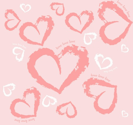 Pattern with heart, love, delicate,